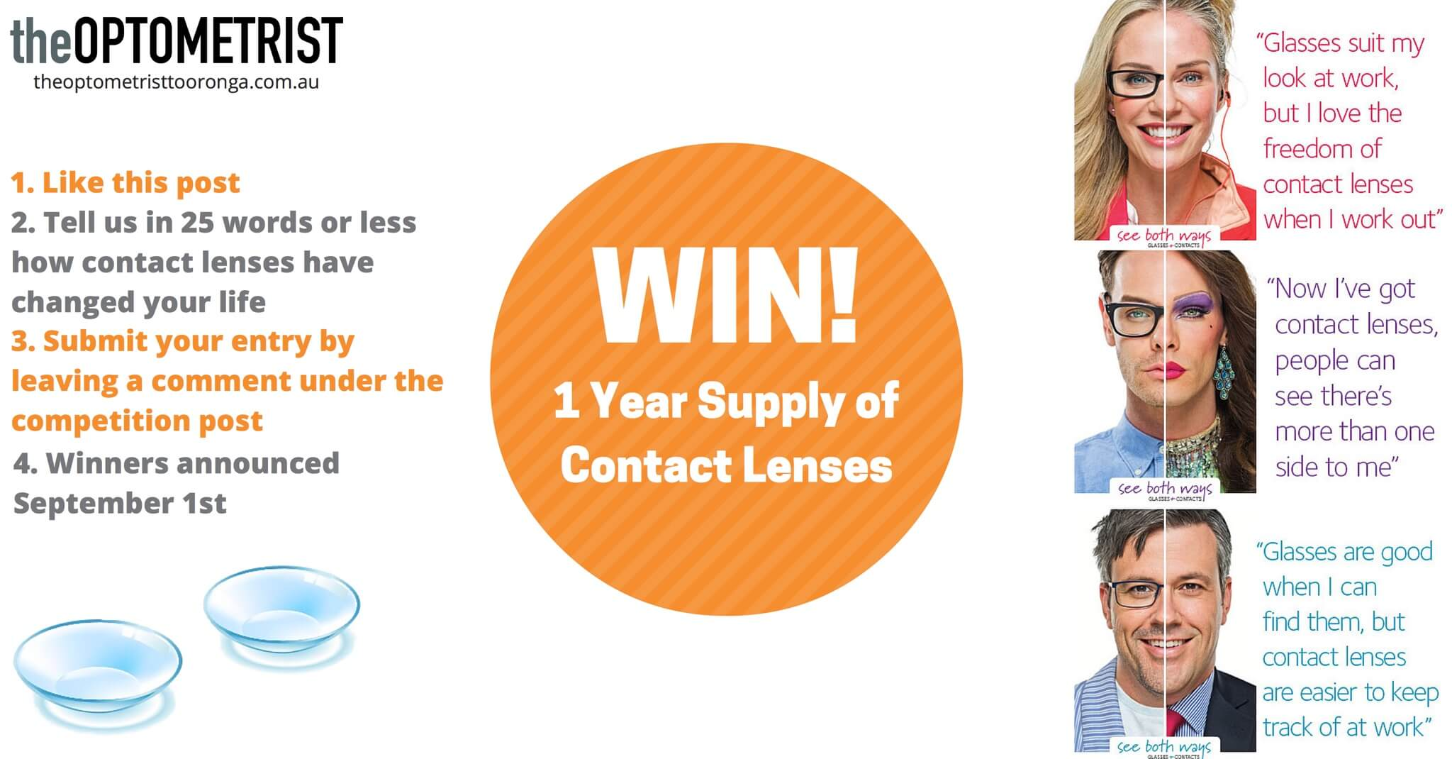 Win Free Contact Lenses - Facebook Competition